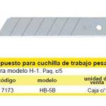 N0034 - cuchillas